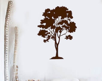 Wall Vinyl Decal Tree Nature Landscape Center Wall Focal point for the Modern Home Eco Decor (#1050di)