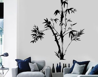Wall Decal Tree Bamboo Bedroom Floral Vinyl Sticker Mural Art 1435dz