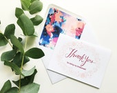 Thank You For Being My Bridesmaid Card + Lined Envelope