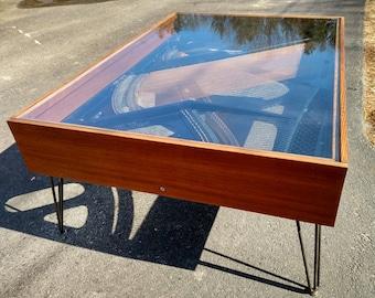 SOLD/EXAMPLE: Retro Piano Harp Coffee Table