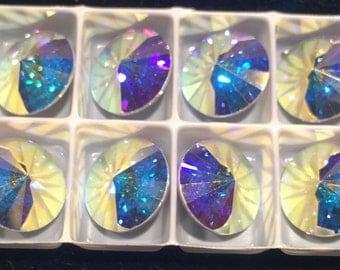 Swarovski Rivoli, 12mm, Crystal AB, 112212CRYSAB-F, 2 Beads, Austrian Crystal