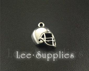 20pcs Antique Silver American football helmet Charms A1528