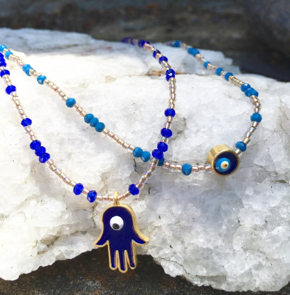 Evil Eye w/Crystal beads Necklace