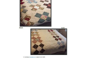 Reversible largest square granny square queen size quilt pattern