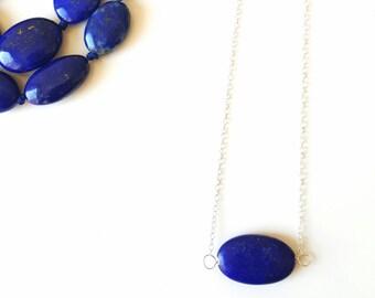Minimalist lapis necklace, lapis pendant, lapis necklaces, gemstone necklace, lapis lazuli, layered necklace, gemstone jewellery, pendant