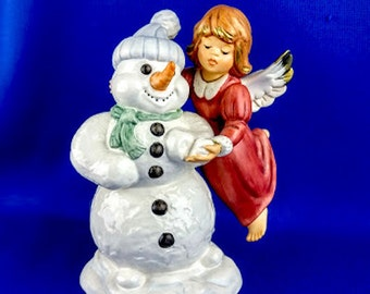 Goeble Angel With Snowman