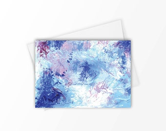 Abstract note card set, Stationery set, Stationary set, Gift ideas, Abstract stationery, Abstract blue, Note card set