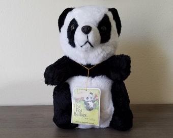 The Pot Belly Panda Bear Stuffed Animal 1979 by Daekor