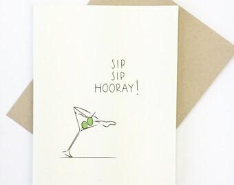 Funny Birthday Card, Funny Congrats Card  MARTINI CARD Congratulations Card Funny, Congrats New Home, Congrats New Job, Birthday