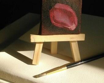 Pomegranate seed miniature oil painting
