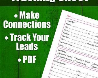 2 By 2s Lead Tracking Sheet Sales Tools Followup Form Lead