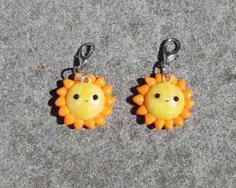 Cute Polymer Clay Sun Charms