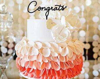 Congrats Cake Topper, Keepsake Statement Cake Topper A1081