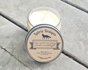 Irishman's Delight Whiskey Soy Candle | Whisky, Handmade, Handpoured, Gift for Men, Alcohol, Pub, Irish