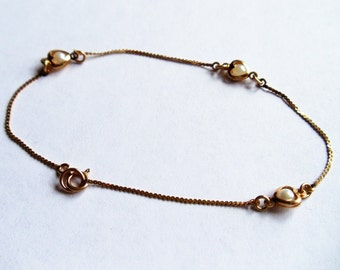 14k gold bracelet Etsy