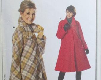 Burda pattern, new, winter coat, long coat, short coat, size 6, 8, 10, 12, 14, 16, 18