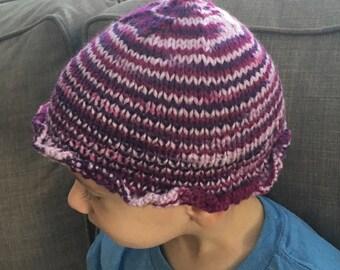 Magenta Stripes Hat
