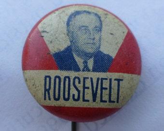 1930's Franklin Roosevelt campaign button