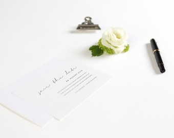 Save the Date Postkarte inklusive Umschlag - Black & White