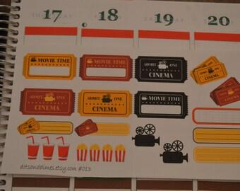 Movie Theater Planner Stickers (013)