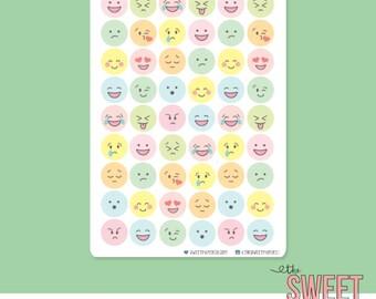 PASTEL EMOJI Planner Stickers
