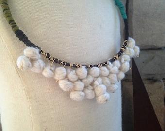Vintage Textile Necklace