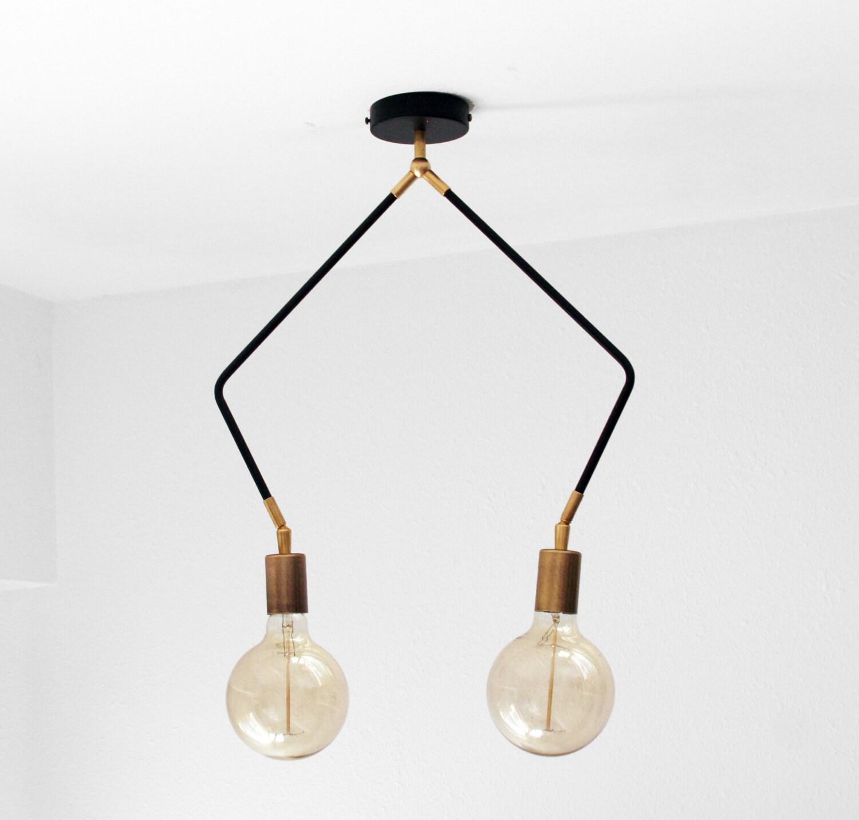 Modern Ceiling Lights Nz : Modern ceiling light arm flush mount