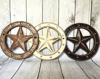 Rustic Star Decor - Gallery Wall Decor - Western Star - Rustic Home Decor - Texas Star Wall Hanging - Cast Iron Star - Cowboy Nursery Decor