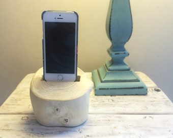 Driftwood iPhone Dock, iPhone docking station, iPhone charging station, iPhone charger, wooden iPhone dock - A1