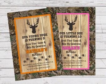 Hunting Invitation, Hunter Invitation, Deer Hunting Invitation, Deer Hunter Invitation, Deer Hunter Birthday, Deer Hunter Shower, Digital