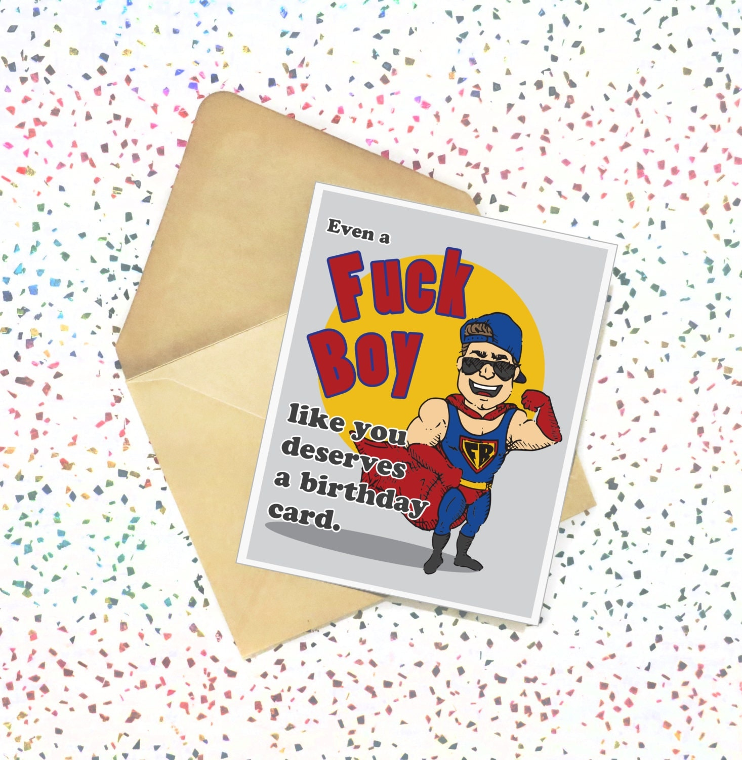 Fk Boy Like You Funny Birthday Card Adult Greeting Card