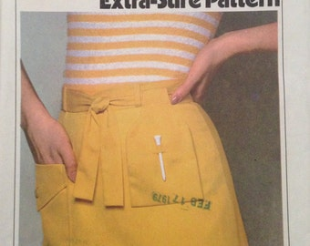 70s Simplicity 8534 Misses' Skirt With Attached Shorts Size 10, 12, 14 Uncut K