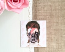 pug dancing to wham unique david bowie card related items etsy 9194