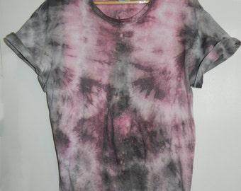 Tie Dye T-Shirt acid wash T-shirt hipster festival grunge Retro 90s indie dip dye unisex rave trash skate top