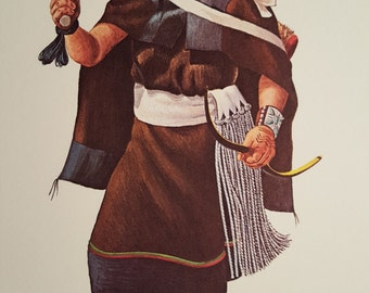 HÉ-É-E the Woman Kachina print - Hoyesva
