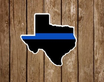 Texas Thin Blue Line Decal , Police decal, Police yeti decal,  Texas yeti decal. Texas Police Force car decal. Police car decal, Police car