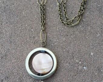 Hematite Black Tassel Necklace