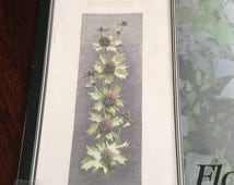 Flower Panels by John Clayton, Sea Holly Panel ,Heritage Stitchcraft, Counted Cross Stitch Pattern  Chart JCSH470 New