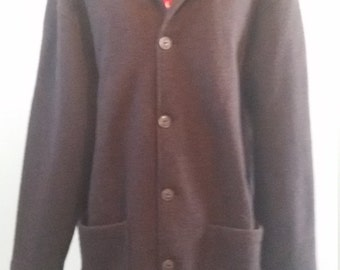 Pure New Zealand Wool Swanndri  Brown Winter Soft Fleece Jacket Coat XL  Made in New Zealand