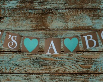 Baby Shower Banners ITS A BOY Signs Baby shower signs Rustic baby shower decorations Photo prop