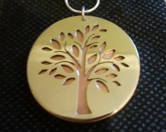 Sterling Silver and Copper Tree of Life Pendant