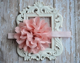 Eyelet Flower Headband, Baby Headband, Hair Accessories, Accesorios de Niña