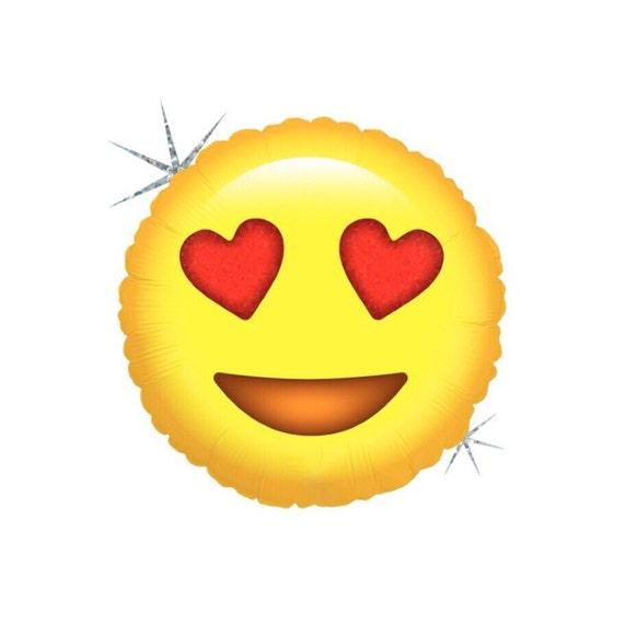 Emoji Heart Balloon // Engagement Party Decoration // Birthday