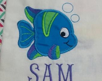 Fish Children's Appliqué Shirt