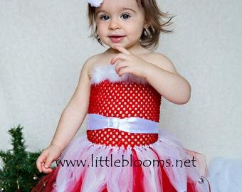 Santa Tutu, Santa Dress, 1st Christmas Tutu, Santa Tutu Dress, Baby Christmas Dress, Christmas Dress, 1st Christmas Dress, Christmas Tutu