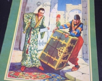 Hans Andersen - 1950s fairy tales - storybook - fairy stories - the flying trunk - Juvenile productions - vintage children's book