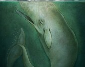 Moby Dick Book Cover Illustration- Fine Art Print