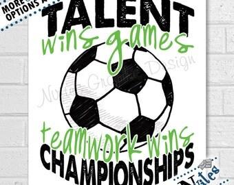 Gift for Soccer Players, Soccer Team Gift, Soccer Room Decor, Soccer Quote, Coaches Gift, Soccer Player Art, Soccer Room Decor | PRINTABLE