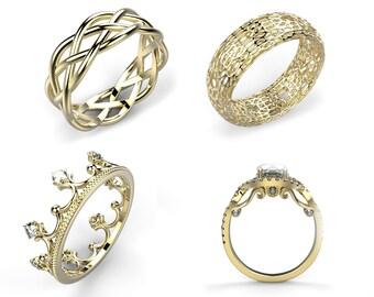 Custom Gold Ring Personalized Ring Custom 14k Gold Ring Unique Ring Customized Ring Custom Engagement Ring