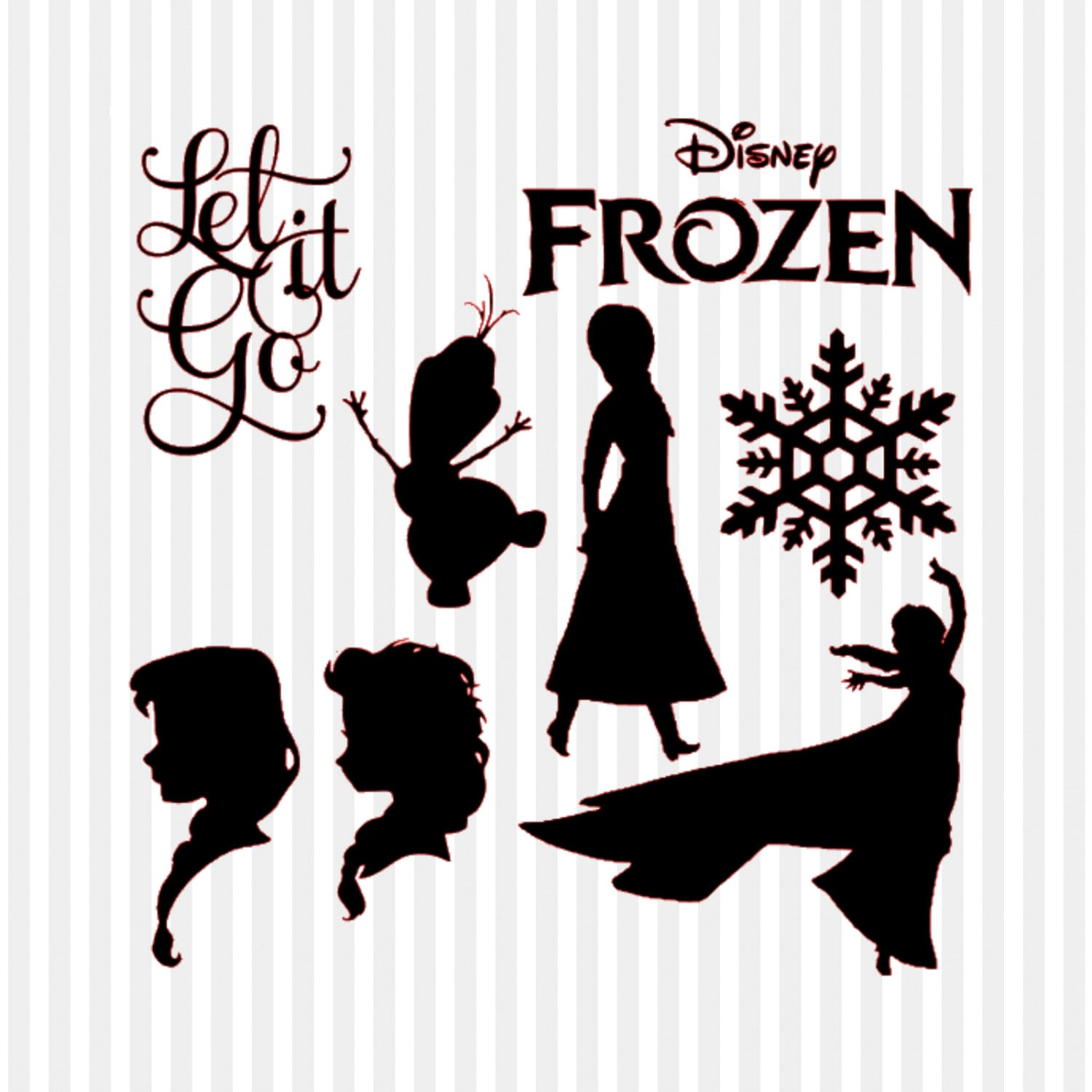 Frozen SVG Frozen Clipart Frozen Silhouette Disney By